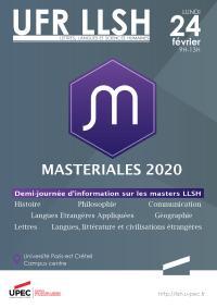 affiche masteriales 2020 llsh upec