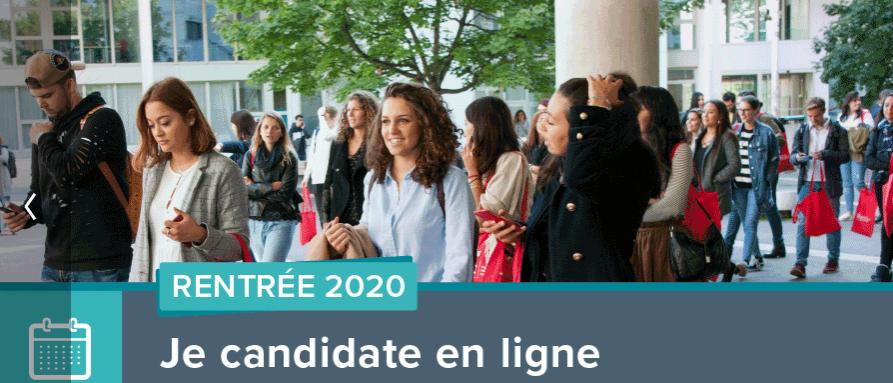 calendrier des candidatures 2020 Licence 2 & 3 LLSH