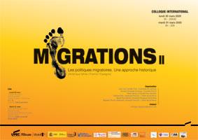 Encart - Colloque International - Migrations : Les politiques migratoires. Une approche historique (Amérique latine / France / Espagne)