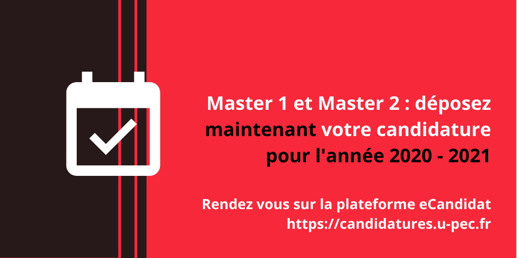 Candidatures Master 2020-2021