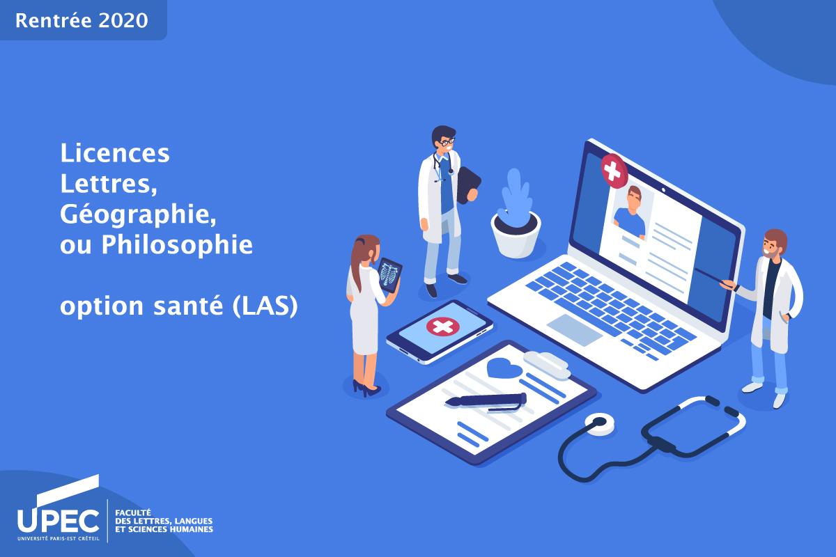 licence llsh option santé LAS