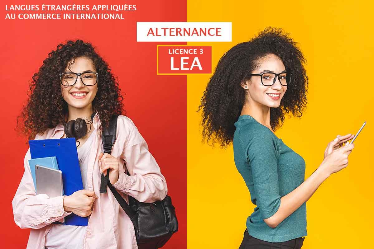 Licence LEA en alternance
