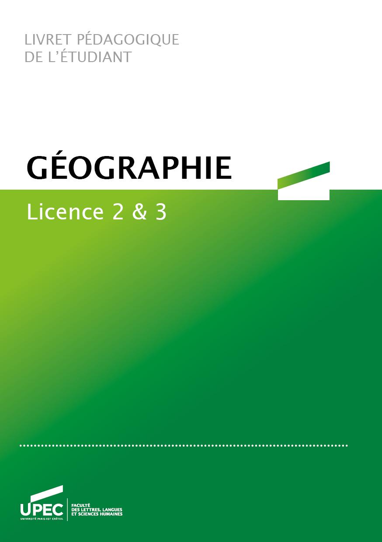 Télécharger le livret L2/L3 Géographie 2020-2021