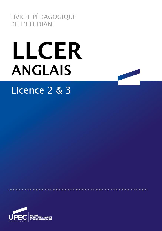 Livret LLCER Anglais
