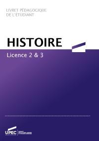Télécharger le livret L2/L3 Histoire 2020-2021