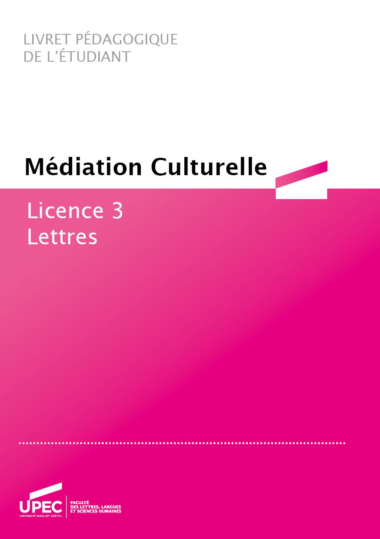 Télécharger le livret Médiation culturelle 2020-2021