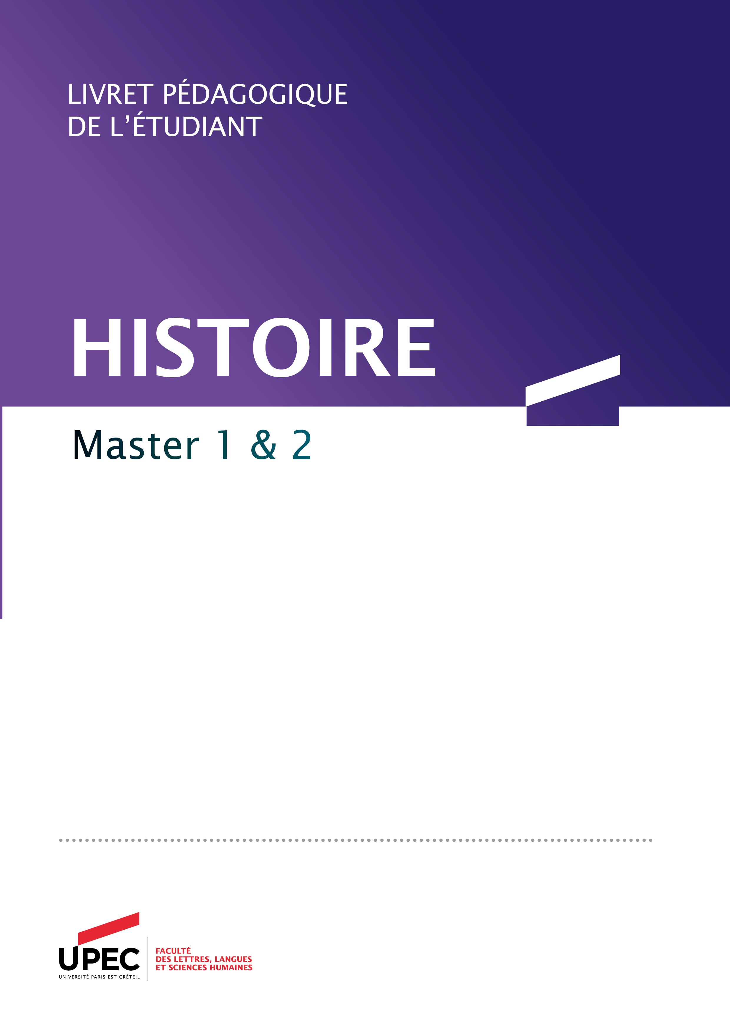 livret master histoire