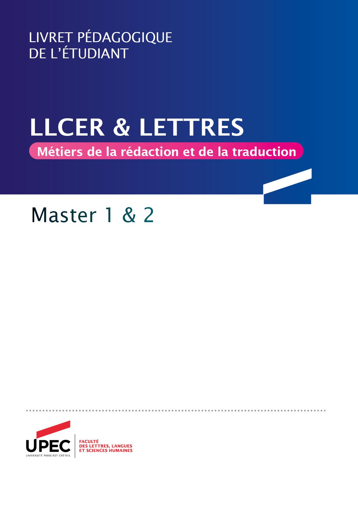 Télécharger le livret Master MRT 2020-2021