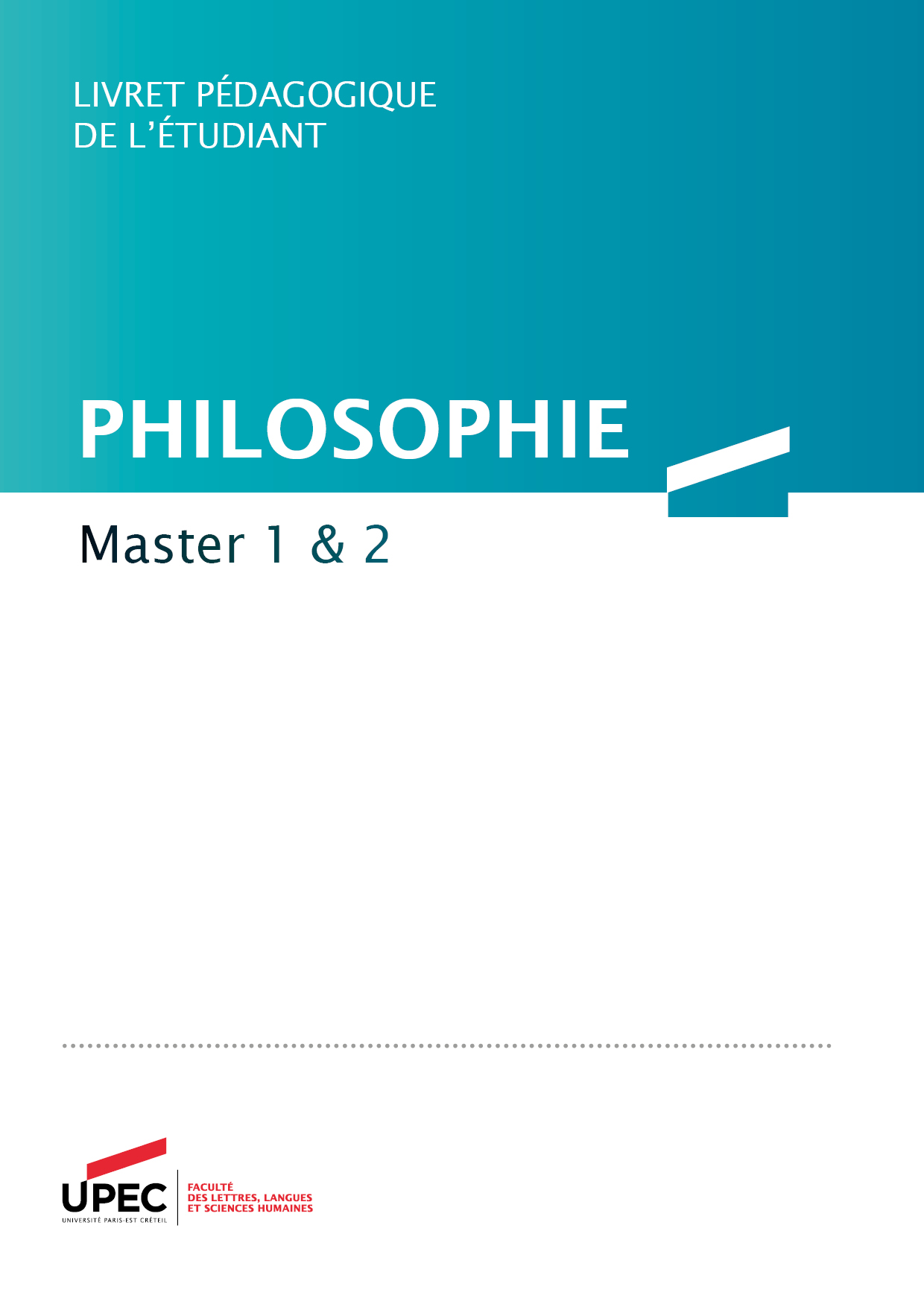 livret master philo